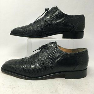 Mauri Mens 44 Reptile Embossed Oxford Dress Shoes